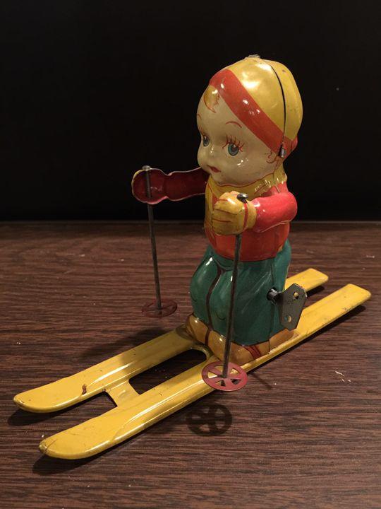Tin Ski Toy - Sheaffer Art Gallery