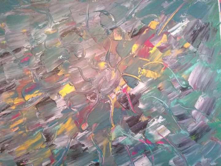 Textured seas voluptuous shores - Art creations