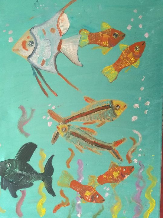 Angel fish - Art creations