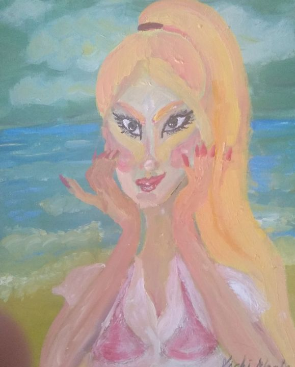 Peachy lady - Art creations