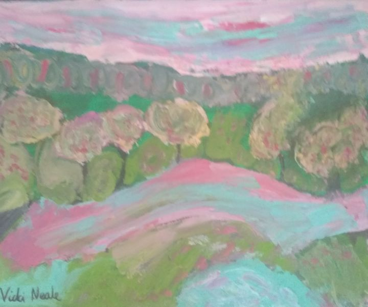 Luster land irredescent river - Art creations