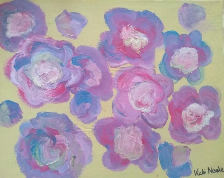 Purple flowers bliss - Art creations