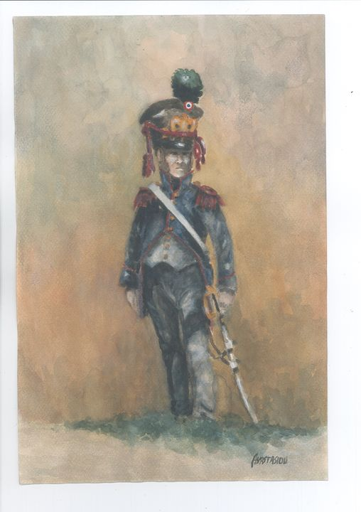 French Line Infantry Officer 1813 - Sotiris Anastasiou
