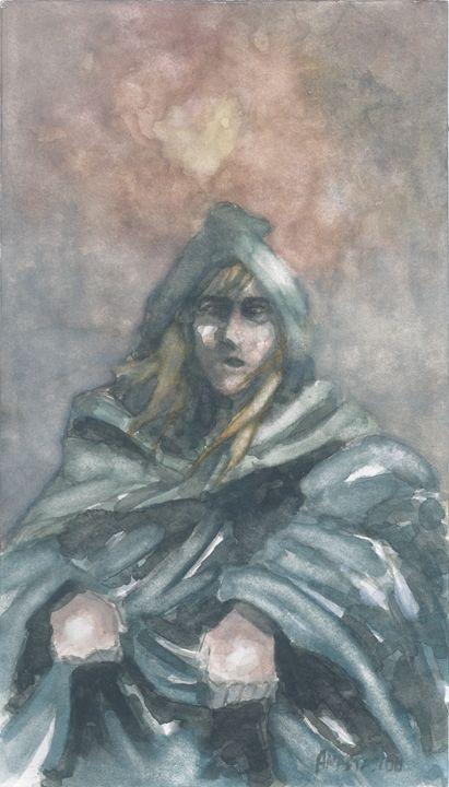 A figure wrapped in a cloak - Sotiris Anastasiou
