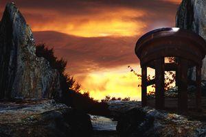 Mountainside Sunset