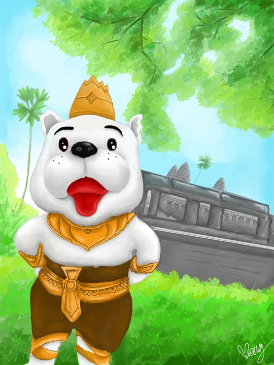 Year of Dog, Angkor Wat Temple. - MenG Gallery