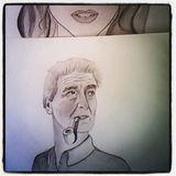 45*30cm Pencil draw