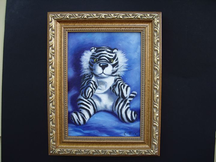 White tiger - claire fix fine art