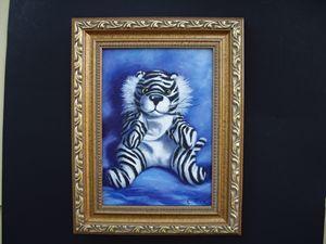 White tiger - claire fix fine art