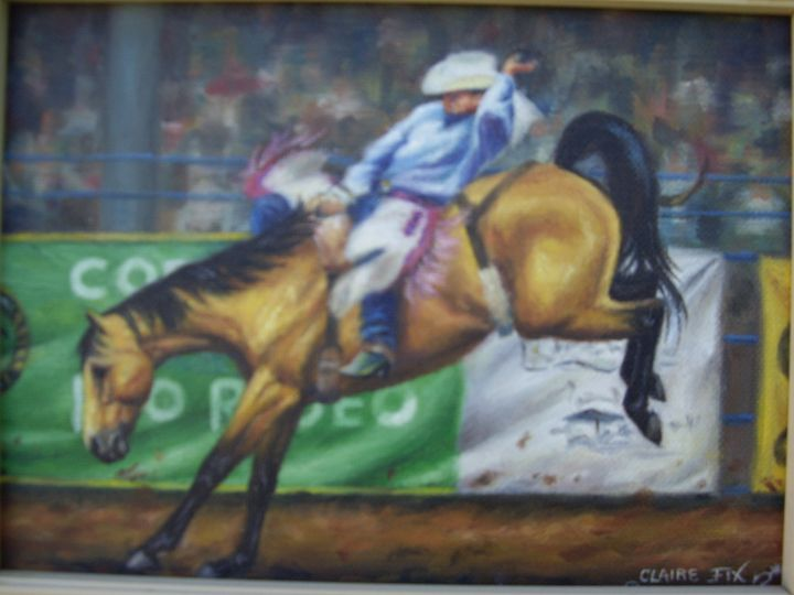 Rodeo bronco - claire fix fine art