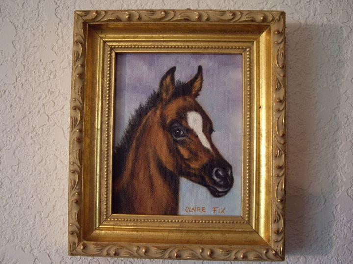 Bay foal & lavender sky - claire fix fine art