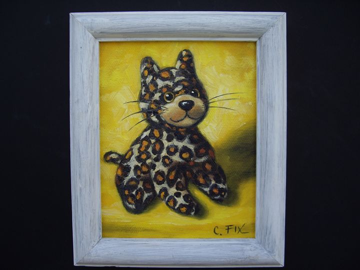 leopard stuffed toy - claire fix fine art