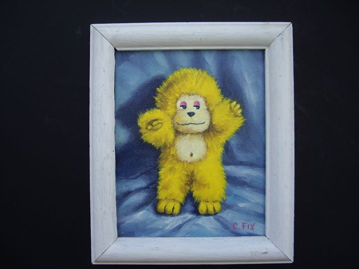 Yellow monkey - claire fix fine art