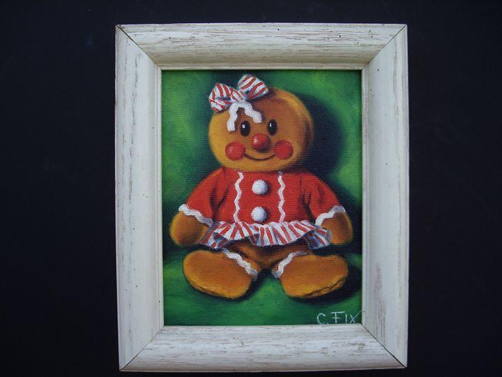 Gingerbread doll - claire fix fine art