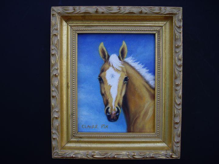 golden foal - claire fix fine art