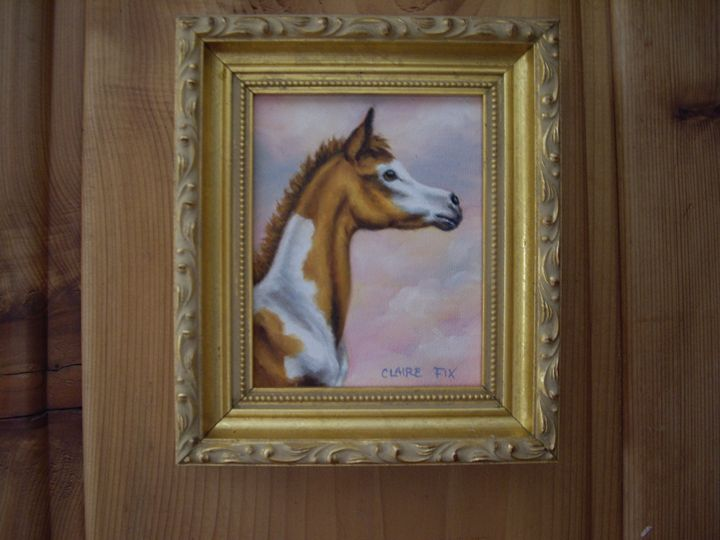 Pinto foal #1 - claire fix fine art
