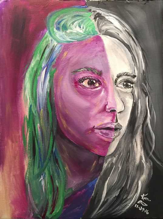 Double edged self portrait - Katie's Creatives