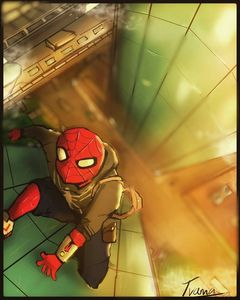 Spiderman's back