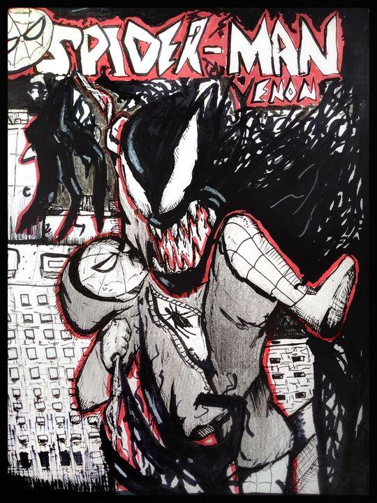 """Spiderman Venom"" Cover for fun - Tanivama's art(drawrzz)"