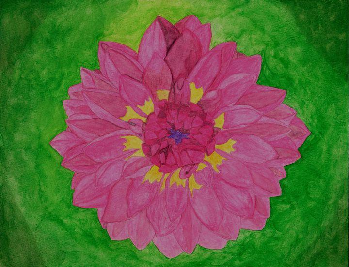 Dahlia Watercolor - LJM Memories