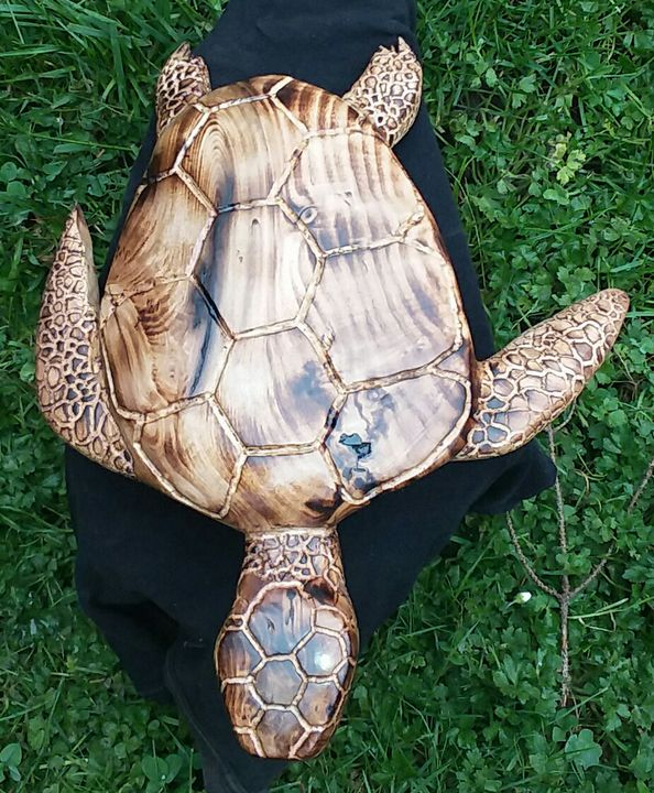 Myrtle wood Sea Turtle - Wise Creations