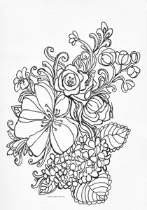 Flower Coloring Page 1 - Andrea Maglio-Macullar