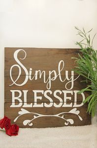 simply blessed | wooden sign