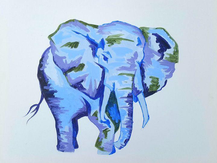 Elephant - Peony Prints