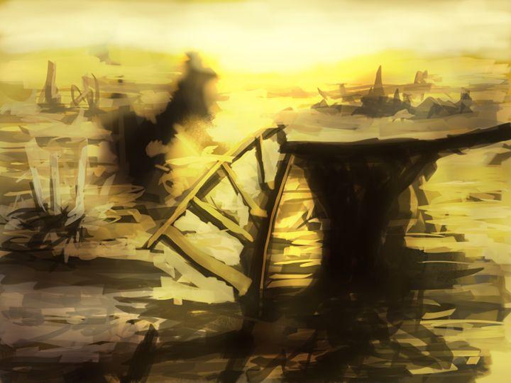 Golden Wasteland - Fine Art by Kyle