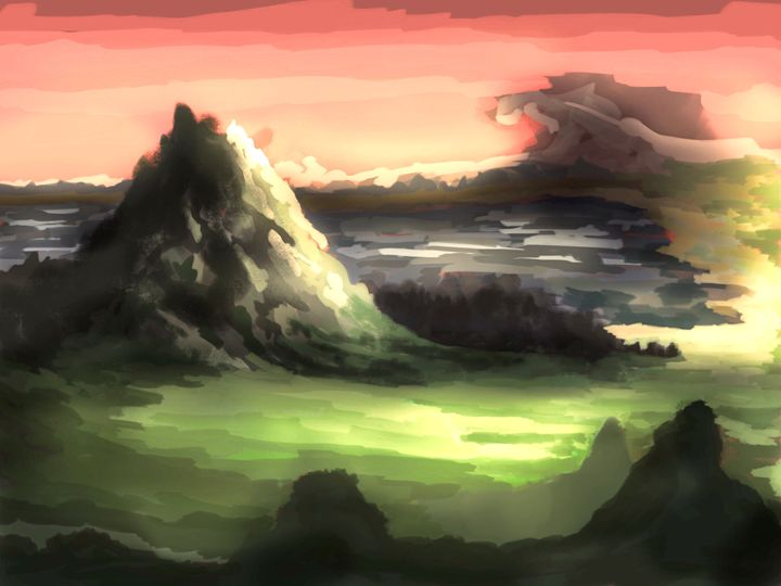Mountain in the Mist - Fine Art by Kyle