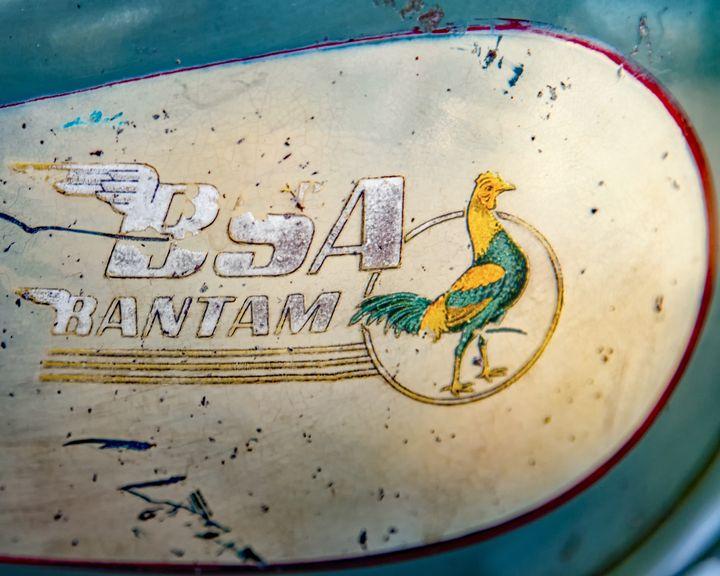 BSA Bantam Motorcycle Tank Emblem - The Back Roads Photographer