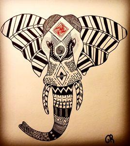 l'éléphant a motif