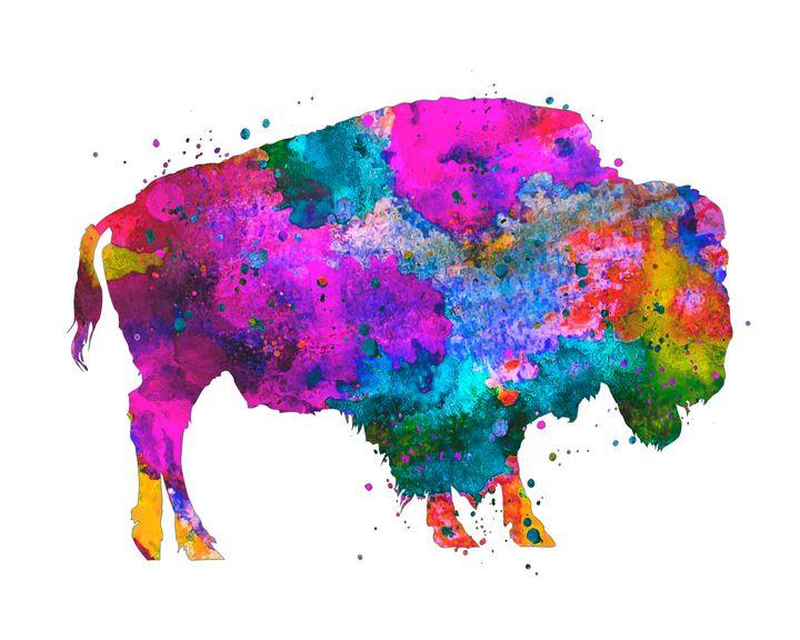Watercolor Buffalo - Zuzi's