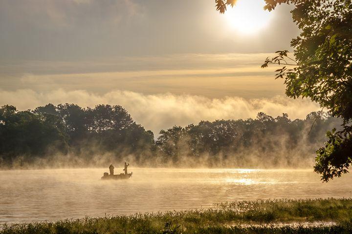 Misty Morning Fishing - Greg N Smith PhotoArt