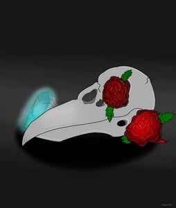 Ravens Skull and Roses