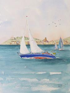 Sailing off St Tropez