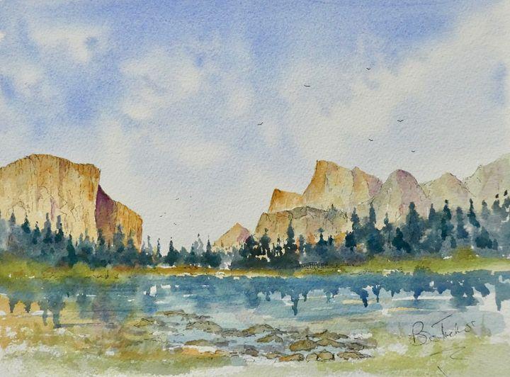 El Capitan in Yosemite National Park - BriansWatercolours