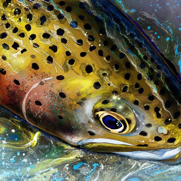 Mountain Streams Rainbow Trout - FishWearDesigns