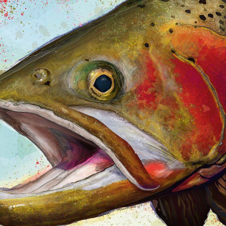 Greenback Cutthroat Trout - FishWearDesigns