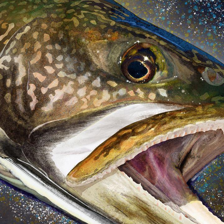 Lake Trout Head - FishWearDesigns