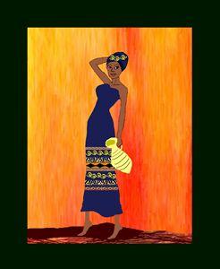 African woman hard at work - homayra elsayed