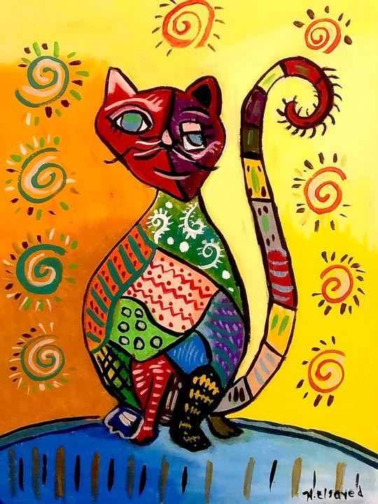 Cubism Cat 2 - homayra elsayed