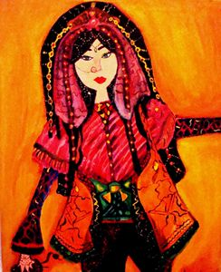A Sophisticated Afghan woman