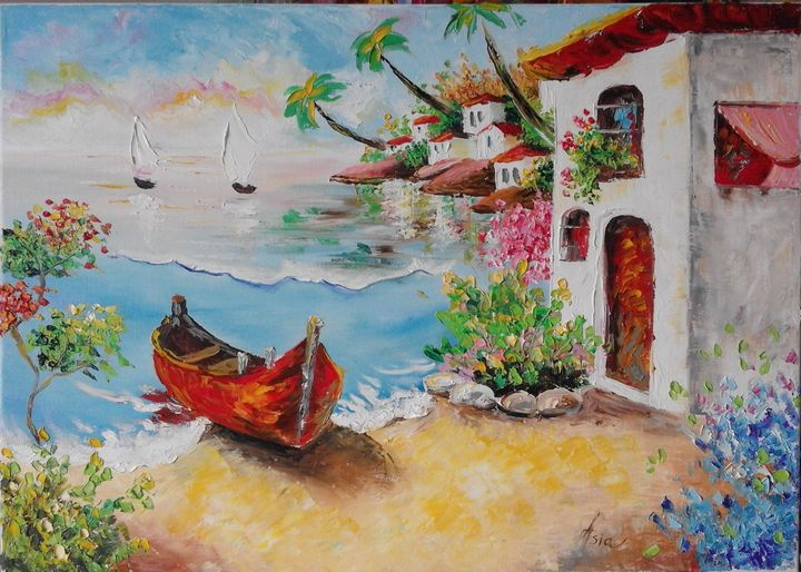 ''The house in the beache'' - AsiArt