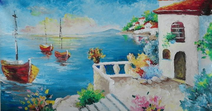 SOLD  ''Beautifull Greece'' - AsiArt