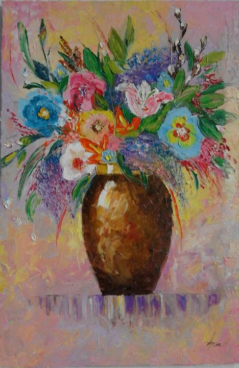 ''Flowers in vase'' - AsiArt