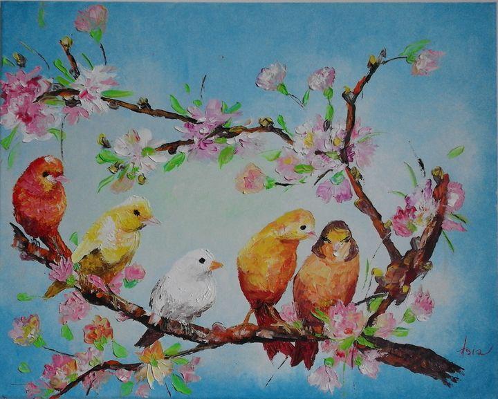 ''Five birds'' - AsiArt