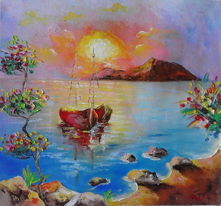 ''Sea sunset'' - AsiArt