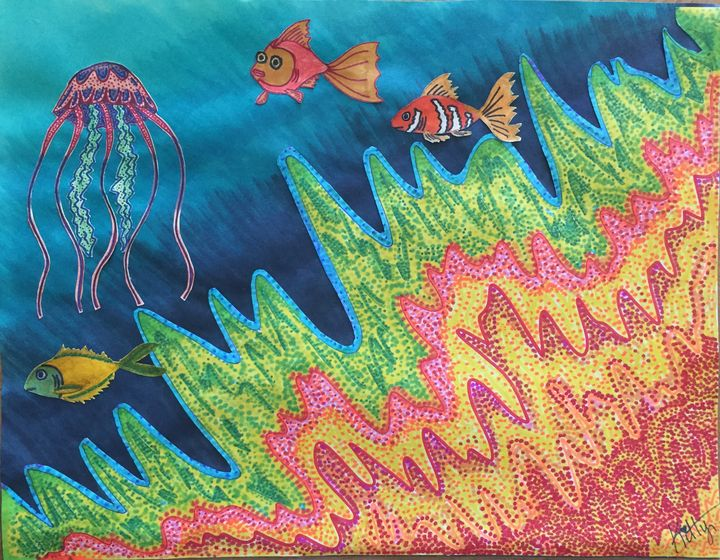 Coral Reef - Kitty's Unique Creations
