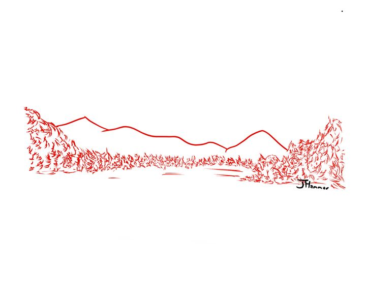Simple nature in red ink - Hammar.arts